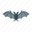 bat, fly, halloween, night icon