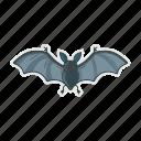 bat, fly, halloween, night