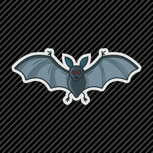 bat, fly, halloween, night icon