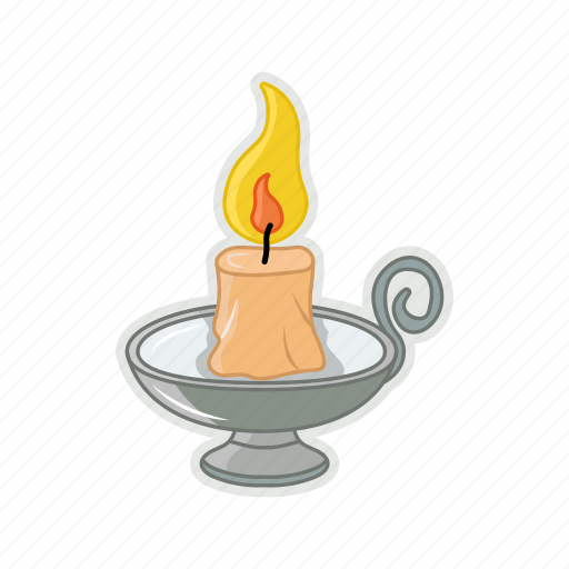 candle, fire, halloween, melt icon