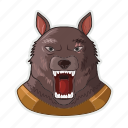 halloween, moon, werewolf, wolf icon