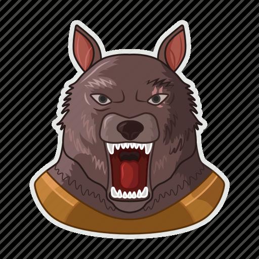 halloween, moon, werewolf, wolf icon