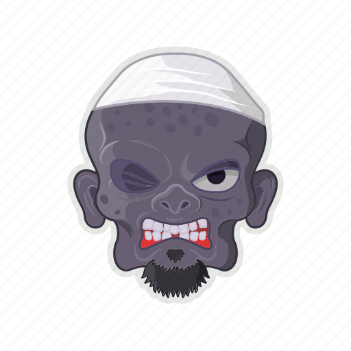 dwarf, goblin, halloween, head, ugly face icon