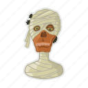 dead, egypt, halloween, mummy, pharaon icon