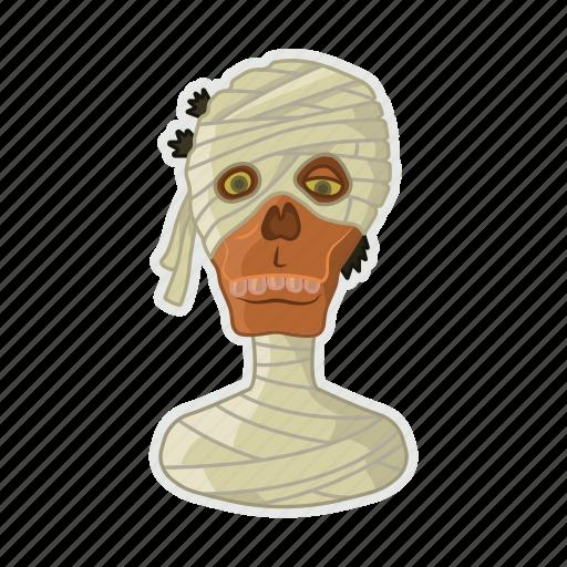 dead, egypt, halloween, mummy, pharaon icon