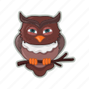 bird, halloween, owl, scary icon