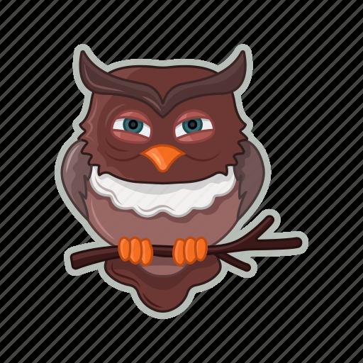bird, halloween, owl, scary icon