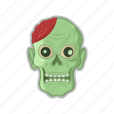 dead, halloween, head, zombie icon