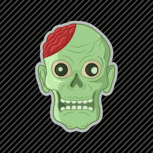 dead, halloween, head, zombie icon