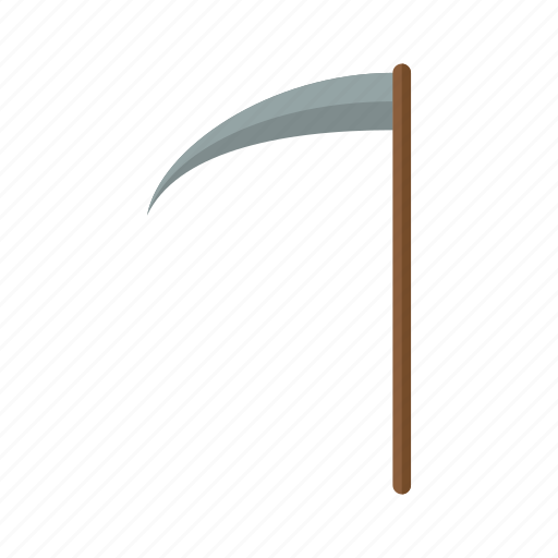 danger, death, halloween, scary, scythe, sickle, weapon icon