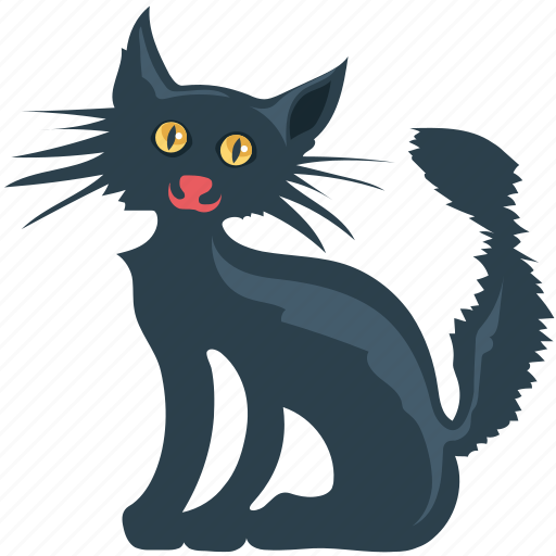 black cat, black evil cat, cat, dreadful, evil cat, fearful, scary icon