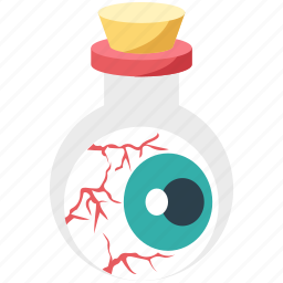 beaker, eye, halloween, view icon