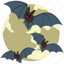 bats, dreadful, eve, evil bats, halloween bats, horrible, scary icon