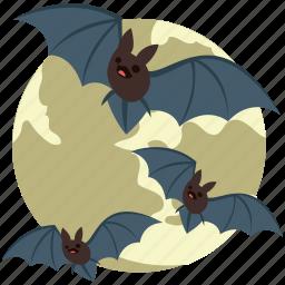 bats, dreadful, eve, evil bats, halloween bats, horrible, scary icon