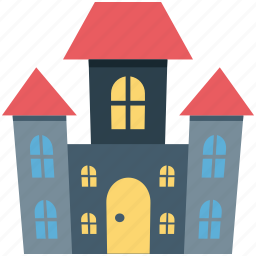 halloween, halloween mansion, haunted house, horror castle icon