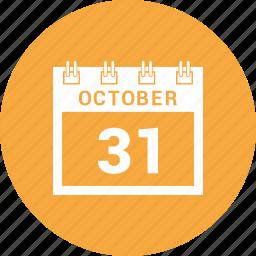 agenda, calendar, date, halloween, schedule icon