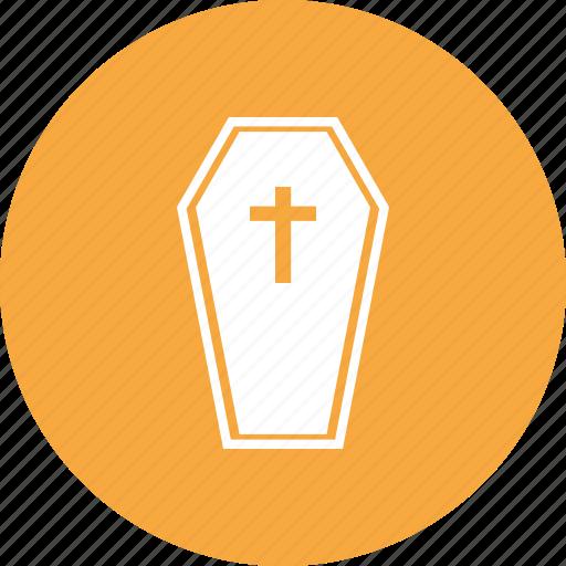 ceremony, coffin, dead, halloween icon