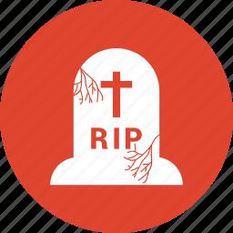 cross, dead, death, grave, halloween icon