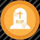 grave, halloween, spooky icon