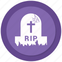 grave, halloween, rip, spooky icon