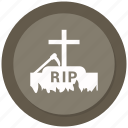 scary, stone, death, halloween, grave icon