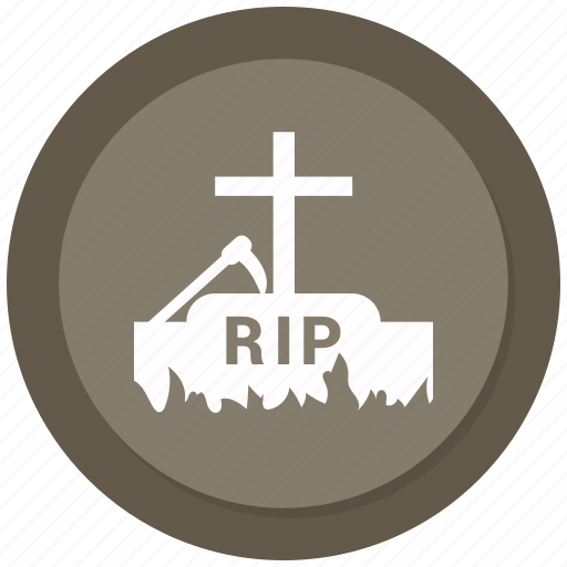death, grave, halloween, scary, stone icon
