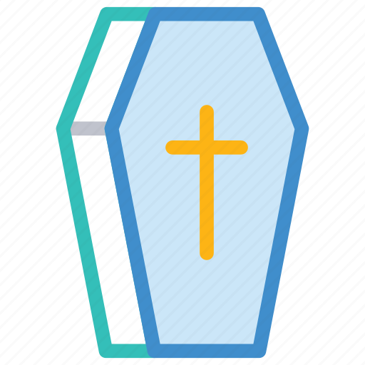 casket, cemetery, coffin, death icon