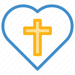 christian, cross, heart, religious icon