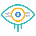 eye, horror, see, view icon