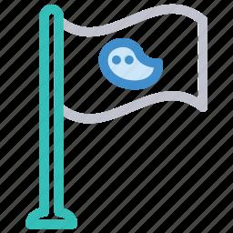 aim, destination, flag, goal icon