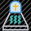 cemetery, tombstone, grave, rip icon