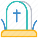 casket, cemetery, grave, tombstone icon