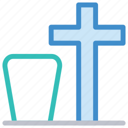 cemetery, death, grave, tombstone icon