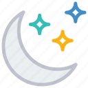 moon, night, sleep, stars icon