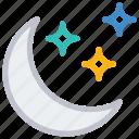 moon, night, sleep, stars