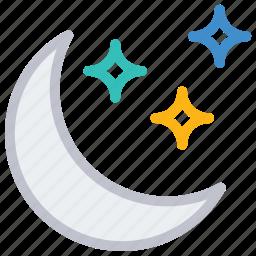 moon, night, sleep, stars icon
