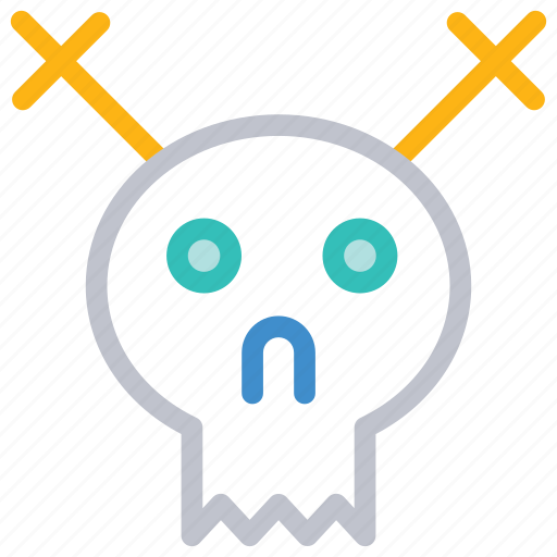 horror, scary, scull, skeleton icon