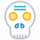 creepy, halloween, skeleton, skull icon