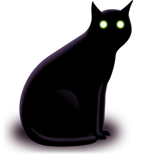 animal, cat, halloween, two eyes icon