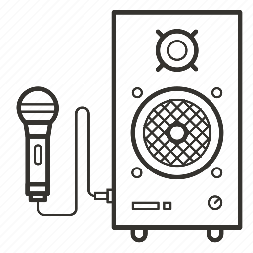 acoustics, microphone, music, sound, speaker, volume icon