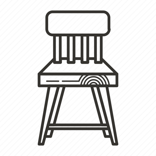 chair, furniture, interior, office, seat, wood icon