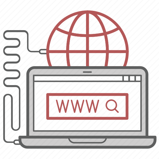 communication, connection, internet, laptop, network, online, web icon