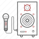 acoustics, microphone, music, sound, speaker, volume icon
