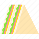 food, lunch, morning, sandwich, side dish, snack icon