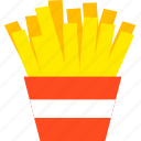 chips, food, fried potato, fries, side dish, snack icon