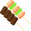 grilled food, kushimono, kushiyaki, meat, skewered food, vebetable, yakitori icon