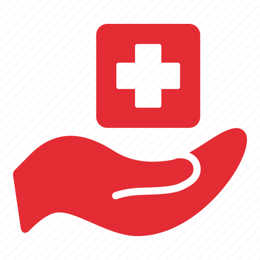 care, hand, health care, health clinic, hospital, insurance, medical icon