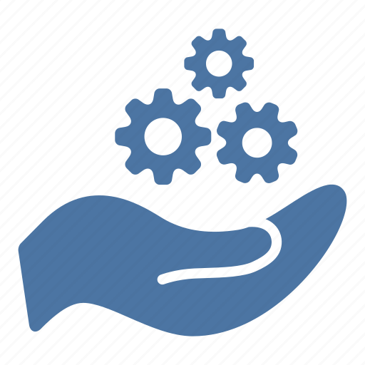 cogwheel, configuration, creation, gears, hand, settings icon