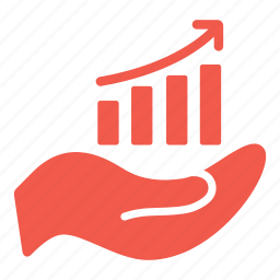 business, chart growth, graph, graphic, hand, line chart, statistics icon
