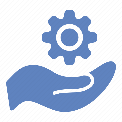 cogwheel, configuration, creation, gear, hand, settings icon